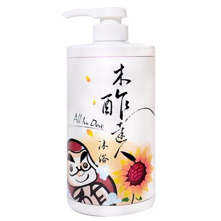 【木醋液達人】天然木酢清爽保濕沐浴乳1000ml - 全身清潔all-in-one.去除煩躁汗垢