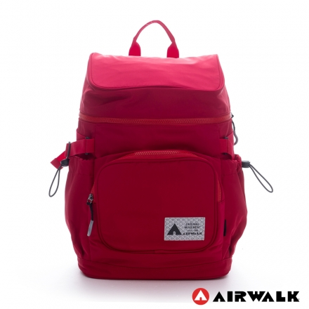 BACKBAGER背包族【美國 AIRWALK】火鍋蓋旅行後背包(紅)