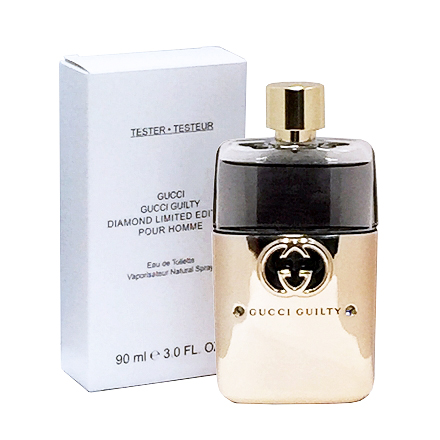 【商品期限 2018/10】Gucci Guilty 罪愛 男性淡香水 / 鑽石限量版 90ml TESTER包裝