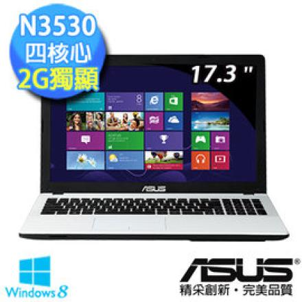 ASUS X751MD-0051BN3530 白/黑 17.3吋寬螢筆電