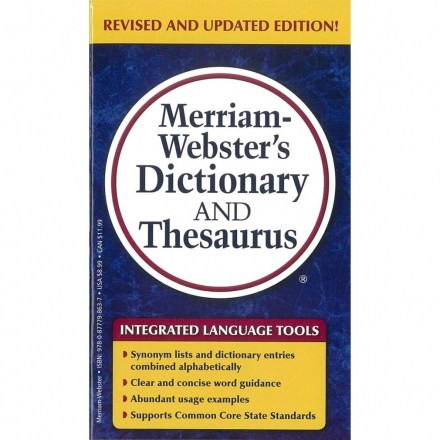 Merriam-Webster's Dictionary And Thesaurus(Re..