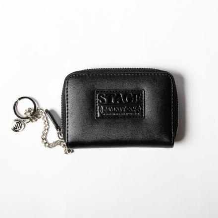 STAGE GORGEOUS LEATHER KEYCHAIN CASE 黑/銀 兩色