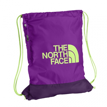 美國 The North Face SACK PACK多功能背袋 12L 紫紅/天堂綠 C071Y5P