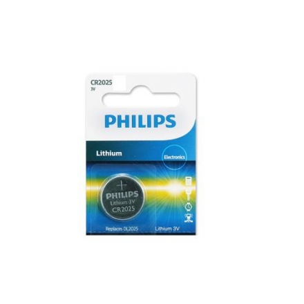 PHILIPS CR2025 / 3V鈕扣鋰電池 1顆裝