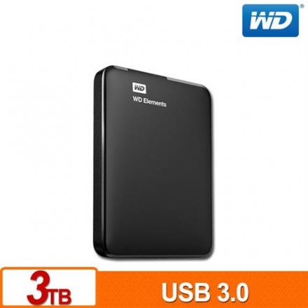 WD Elements Portable 2.5吋 3TB 外接硬碟