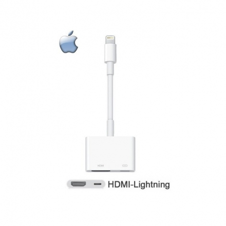 Apple iPhone 5/SE/6/6S Plus/7/7 Plus/8/8 Plus 原廠 HDMI 轉接器/Lightning Digital AV 轉接器/傳輸線/iPod Touch 5