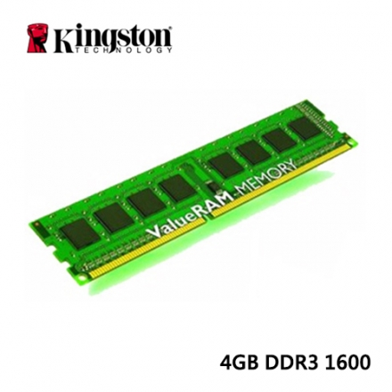 Kingston 4GB DDR3 1600 桌上型記憶體(KVR16N11S8/4)
