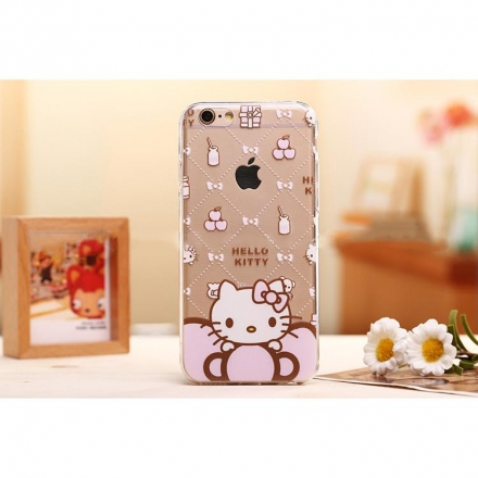 iPhone5/iPhone6 4.7/5.5 Hello kitty 樣式5 矽膠TPU透明套