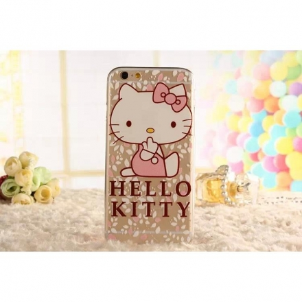 iPhone5/iPhone6 4.7/5.5 Hello kitty 樣式4 矽膠TPU透明套