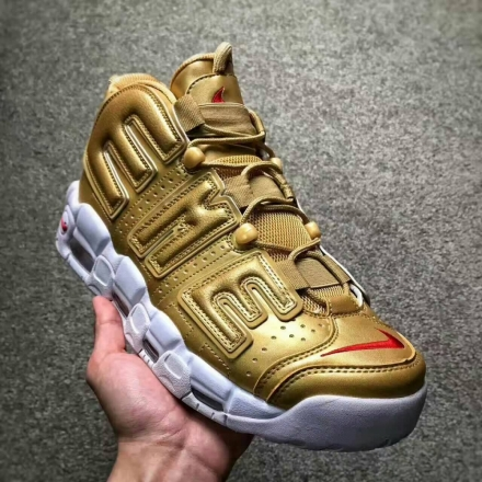 Supreme x Nike Air More Uptempo 聯名大AIR皮蓬  情侶款