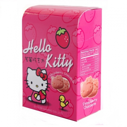 [大買家]甘百世Hello Kitty 草莓巧克力(30g/盒)