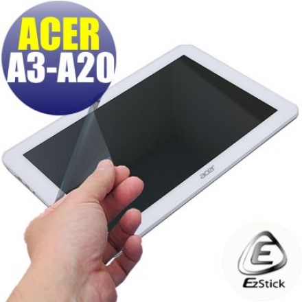 【EZstick】ACER Iconia Tab 10 A3-A20 FHD 系列專用 靜電式平板LCD液晶螢幕貼 (高清霧面)