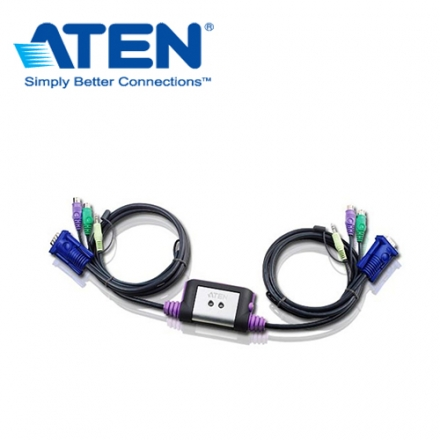 【ATEN】CS62A PS/2介面+Audio KVM電子切換器