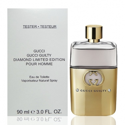 Gucci Guilty Diamond Limited Edition 罪愛男性鑽石限量版淡香水 90ml Tester 包裝