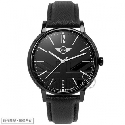 【MINI Swiss Watches】【台南 時代鐘錶 MINI Swiss Watches】Cooper設計概念 時尚腕錶 MINI-160622 黑 42mm