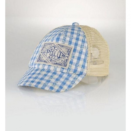 美國童裝 Ralph Lauren POLO 童帽 /GINGHAM TRUCKER HAT 4-6Y