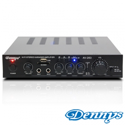 【Dennys】USB/FM/SD/MP3迷你擴大機(AV-263)