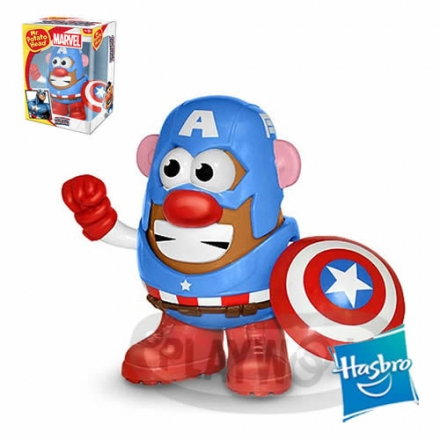 【Playwoods】[兒樂寶PLAYSKOOL] PPW蛋頭組:美國隊長 Mr. Potato Head - Captain America