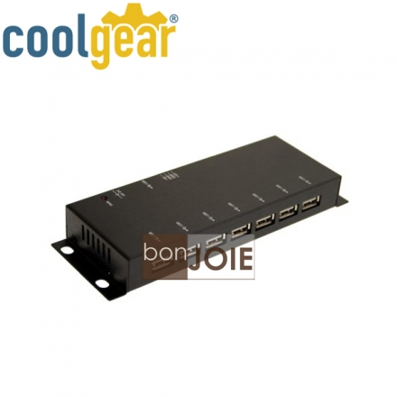 ::bonJOIE:: 美國進口 CoolGear Metal 7 Port USB 2.0 Powered Slim Hub 金屬外殼七孔集線器 (USBG-7U2ML) for PC-MAC 鐵殼