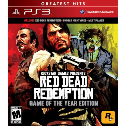 PS3 碧血狂殺 + 鬼怪夢靨包 年度完整版英文美版 RED DEAD REDEMPTION GAME OF THE YEAR EDITION