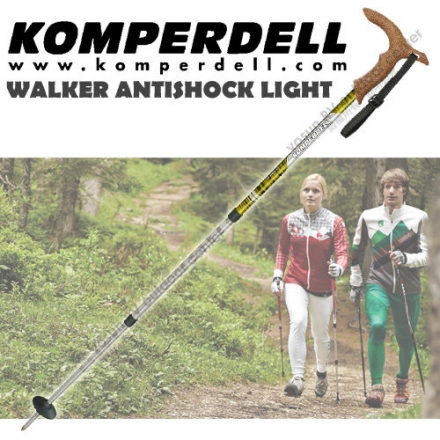 【KOMPERDELL奧地利】WALKER ANTISHOCK LIGHT 7075-T6航太鋁合金T型把避震登山杖 1762420-10