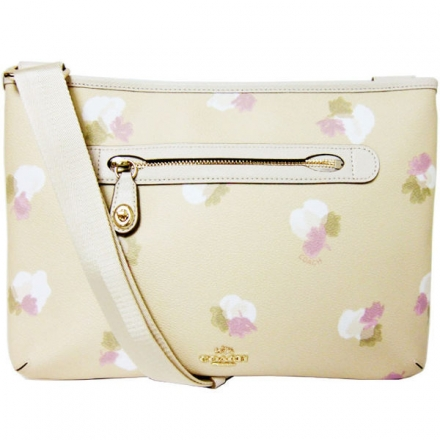 COACH TAYLOR CROSSBODY 印花皮革包(米白)