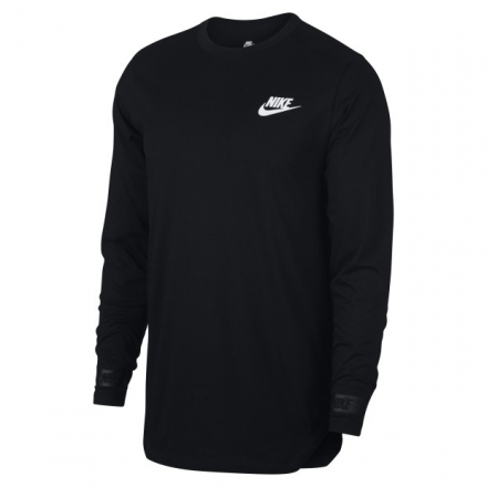 【Aqua-Feb】NIKE AS M NSW TEE LS AV LBR 888423-010(男 棉質 長版上衣 黑長袖)